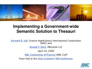 Implementing a Government-wide Semantic Solution to Thesauri