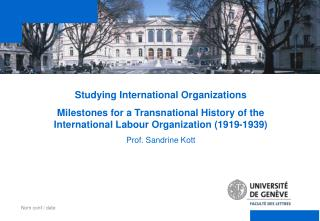 Studying International Organizations
