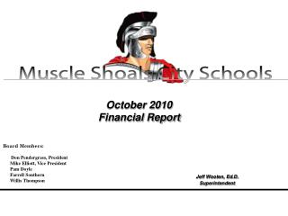 October 2010 Financial Report