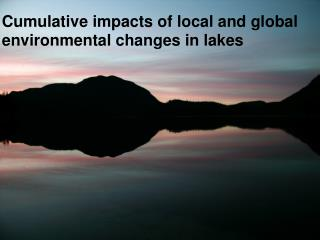 Cumulative impacts of local and global environmental changes in lakes