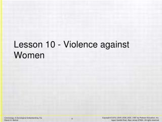 Lesson 10 - Violence against Women