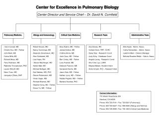 Center for Excellence in Pulmonary Biology