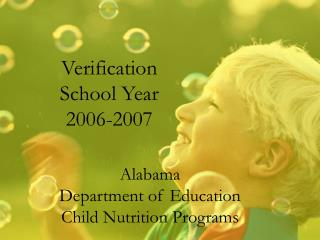 Verification School Year 2006-2007