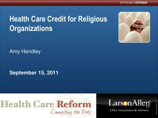 Health Care Credit for Religious Organizations