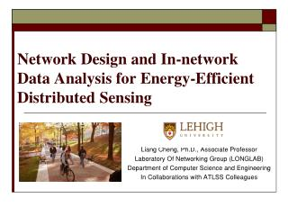 Network Design and In-network Data Analysis for Energy-Efficient Distributed Sensing