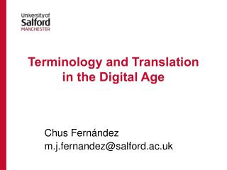 Terminology and Translation  in the Digital Age