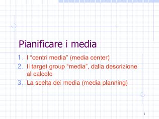 Pianificare i media