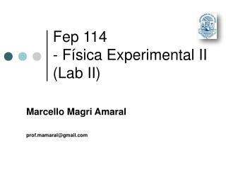 Fep 114 - Física Experimental II (Lab II)