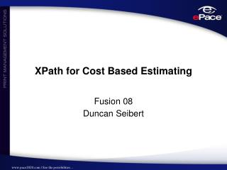 XPath for Cost Based Estimating