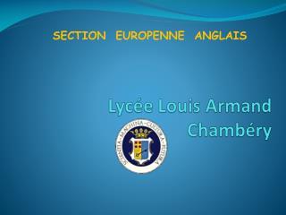 Lyc e Louis Armand Chamb ry