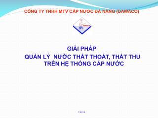CÔNG TY TNHH MTV CẤP NƯỚC ĐÀ NẴNG (DAWACO)
