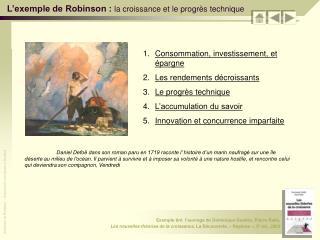 L exemple de Robinson : la croissance et le progr s technique
