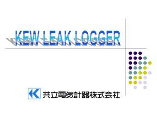 KEW LEAK LOGGER