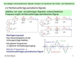 2.2 Nichtsinusförmige periodische Signale