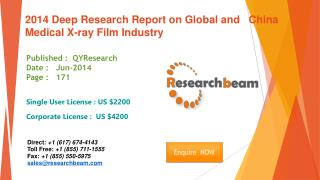 2014 Global and China Medical X-ray Film Market Size