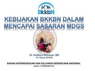 BADAN KEPENDUDUKAN DAN KELUARGA BERENCANA NASIONAL Jakarta, 15 PEBRUARI 2013