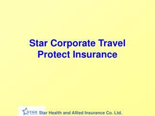 Star Corporate Travel Protect Insurance