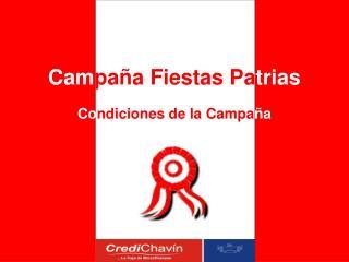 Cam paña Fiestas Pa trias