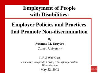 Employer Policies and Practices that Promote Non-discrimination