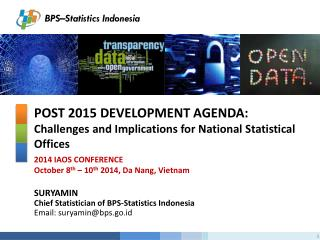 Post 2015 Development Agenda:  Challenges and Implications for National Statistical Offices