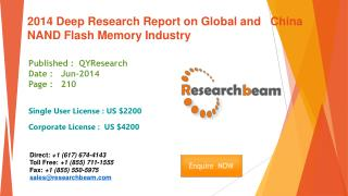 Global and China NAND Flash Memory Market  Industry 2014