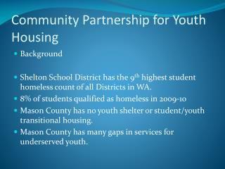 Community Partnership for Youth Housing