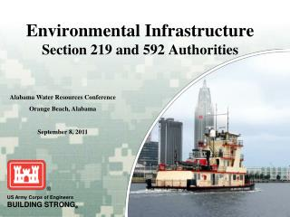 Environmental Infrastructure  Section 219 and 592 Authorities
