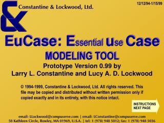 EuCase 99 Modeling Tool