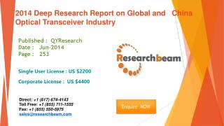 Global and China Optical Transceiver Market Industry 2014