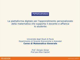 Università degli Studi di Pavia Dipartimento di Scienze Economiche e Aziendali