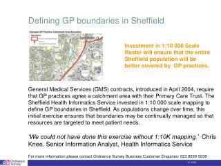Defining GP boundaries in Sheffield