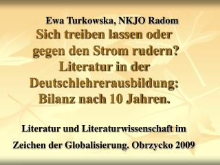 Ewa Turkowska, NKJO Radom