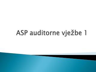ASP auditorne vježbe 1