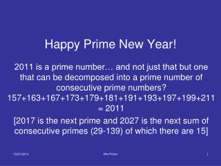Happy Prime New Year!