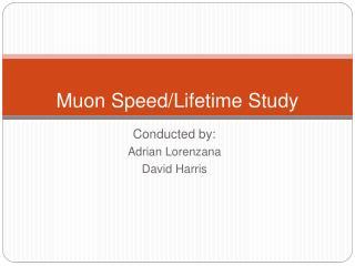 Muon Speed