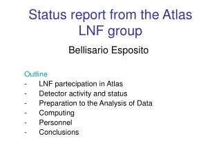 Status report from the Atlas LNF group