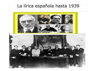 La lírica española hasta 1939