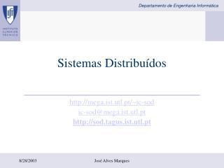 Sistemas Distribu�dos