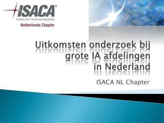 Uitkomsten onderzoek bij grote  IA  afdelingen in Nederland
