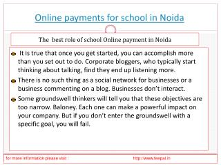 Free Access for the online payment for school in Noida