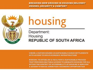 JOINT BUDGET COMMITTEE BRIEFING ON DEPARTMENT OF HOUSING EXPENDITURE FOR 2007/08