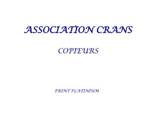 ASSOCIATION CRANS COPIEURS