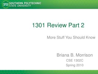 1301 Review Part 2