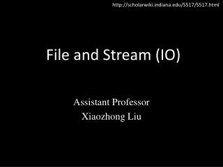 File and Stream (IO)
