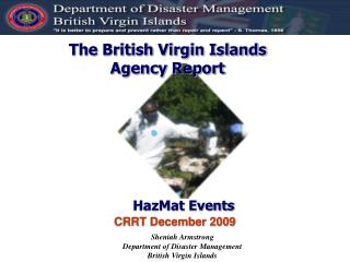 The British Virgin Islands Agency Report