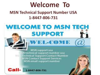 MSN Technical Support Number USA 1-8447-806-731