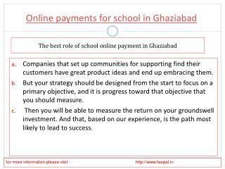 How to Deal With an online payment for school in Ghaziabad