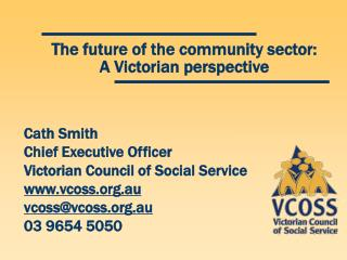 The future of the community sector: A Victorian perspective