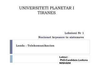 UNIVERSITETI PLANETAR I TIRANES