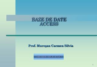 BA ZE DE DATE ACCESS